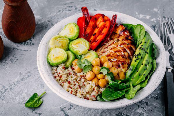 Chicken Chickpea Quinoa Bowl