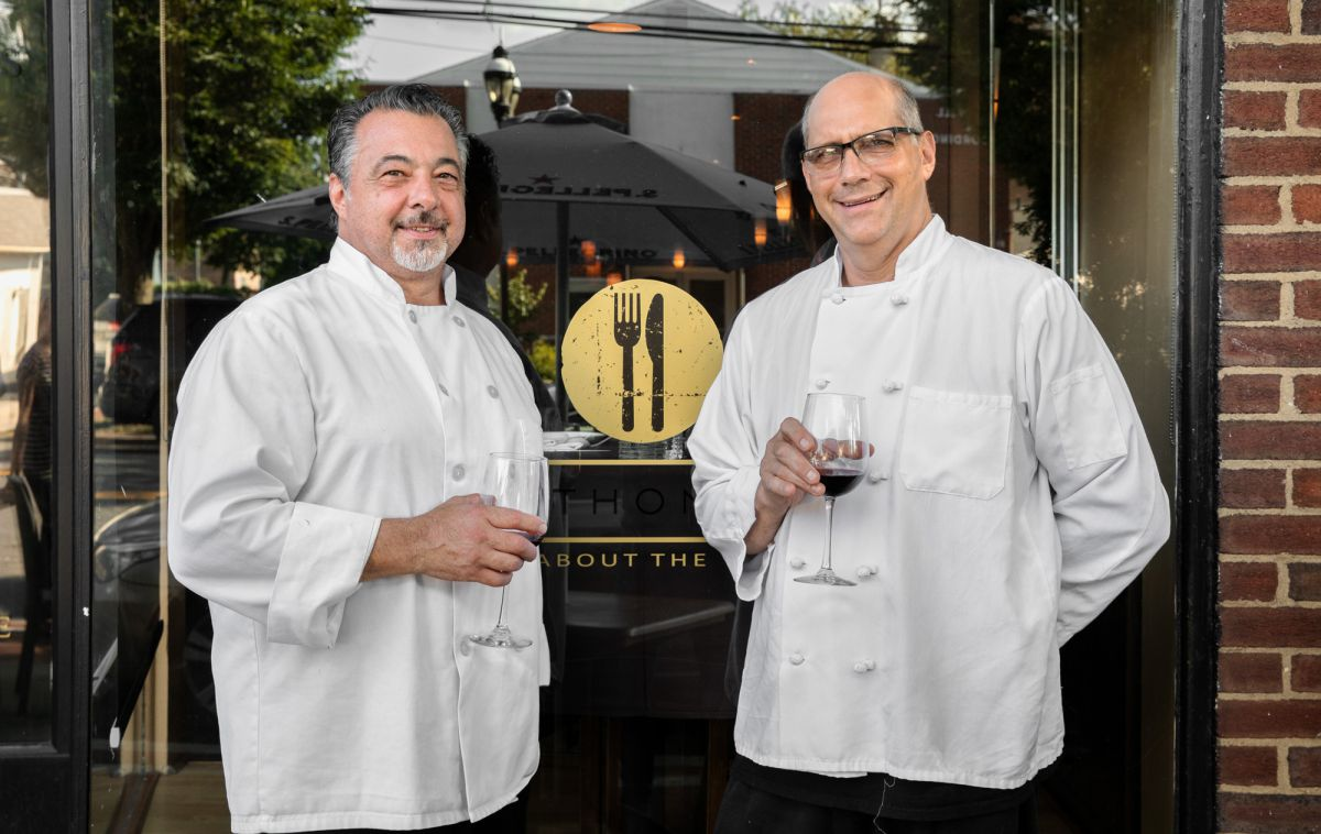 Anthony Iannone Chef John Pilarz at Anthony's restaurant