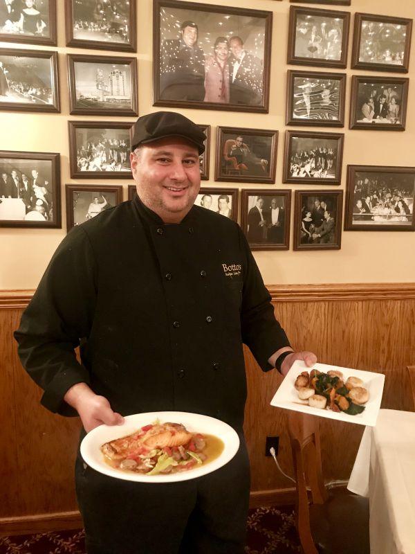 Botto's Italian Line Restaurant - Salmon Alla Botto
