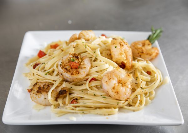 National Seafood Month Recipe Spicy Shrimp Pasta