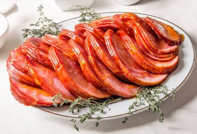 cooked sliced ham