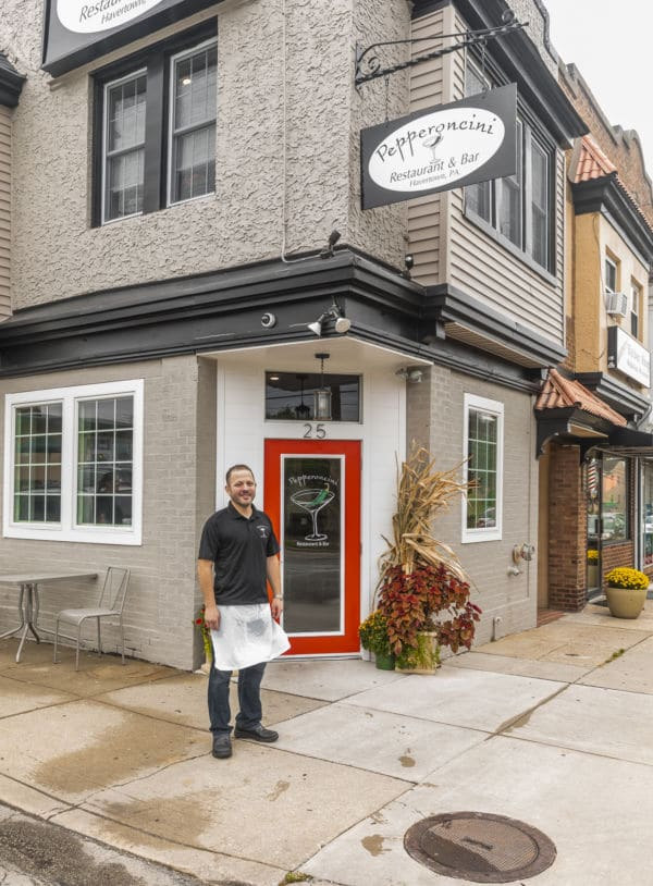 Chef Tommy DeFruscio at Pepperoncini Haverford
